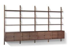 - Wall-mounted sectional walnut shelving unit ROYAL SYSTEM® | Walnut shelving unit - dk3