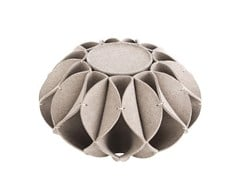 - Wool felt pouf RUFF POUF HIGHT - GAN By Gandia Blasco