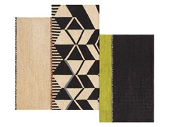 - Tappeto fatto a mano rettangolare in lana a motivi geometrici RUSTIC CHIC | Tappeto a motivi geometrici - GAN By Gandia Blasco