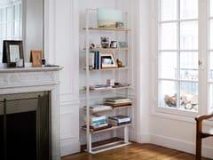 - Double-sided freestanding wooden bookshelf SÉVERIN Bookshelf 2 - Alex de Rouvray design