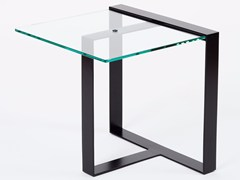 - Low glass and steel coffee table for living room SÉVERIN | Square coffee table - Alex de Rouvray design