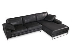 - Sectional leather sofa with chaise longue SAINT JOHN PERSE | Sectional sofa - Canapés Duvivier