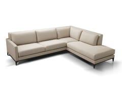 - Corner sectional leather sofa SAINT LOUIS | Corner sofa - Canapés Duvivier