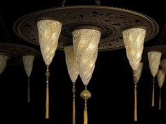 - Glass pendant lamp SAMARKANDA SULTANO - Fortuny® by Venetia Studium