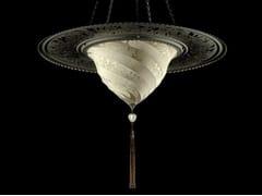- Silk pendant lamp SAMARKANDA WITH METAL RING | Silk pendant lamp - Fortuny® by Venetia Studium