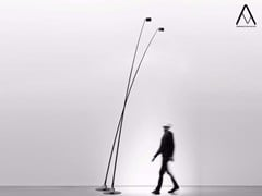 - Halogen adjustable floor lamp with dimmer SAMPEI - DAVIDE GROPPI