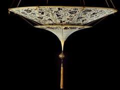 - Silk pendant lamp SCHEHERAZADE 2 TIERS - Fortuny® by Venetia Studium