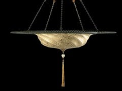 - Glass pendant lamp SCUDO SARACENO WITH METAL RING | Glass pendant lamp - Fortuny® by Venetia Studium