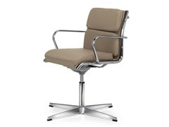 - Height-adjustable swivel leather task chair with armrests SEASON COMFORT | Task chair - Quinti Sedute