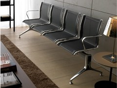 - Mesh beam seating with armrests SEASON NET | Beam seating - Quinti Sedute