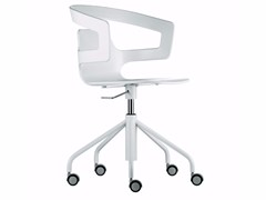 - Swivel chair with 5-spoke base with casters SEGESTA STUDIO - 508 - Alias