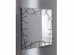- Square wall-mounted framed mirror SEGMENT SQUARE - SOVET ITALIA