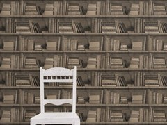 - Wallpaper SEPIA BOOKSHELF - Mineheart