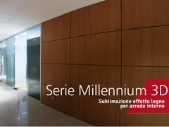 Sublimazione effetto legno per arredo internoSERIE MILLENNIUM 3D - DECORAL® GROUP