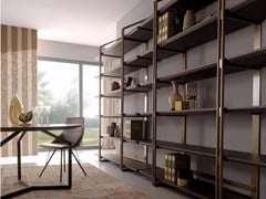 - Open sectional steel and wood bookcase SESTANTE | Bookcase - Esedra by Prospettive
