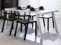 Tavolo rettangolare in legno impiallacciatoSEVEN | Tavolo rettangolare - GAMADECOR