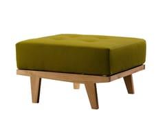 - Cherry wood pouf / footstool DAPHNE | Pouf - Morelato
