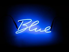- Wall mounted Light letter SHADES BLUE - Seletti