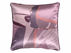 - Square silk cushion SHADOW KISS | Silk cushion - sans tabù