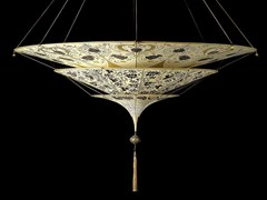 - Silk pendant lamp SHEHERAZADE - Fortuny® by Venetia Studium