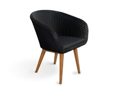 - Synthetic fibre garden chair with armrests SHELL CHAIR | Garden chair - FueraDentro