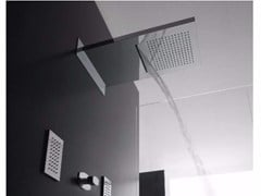 - Wall-mounted 2-spray rain shower SHIRÒ | Wall-mounted overhead shower - ZAZZERI