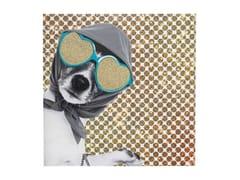 - Polyester Canvas print SHOPPING LADZ DOG - KARE-DESIGN