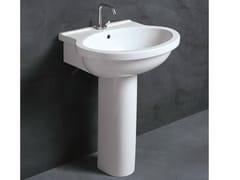- Pedestal ceramic washbasin SHORT 65 | Washbasin - Alice Ceramica