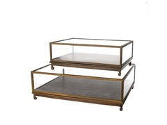 - Wood and glass display cabinet SHOW CASE FLAT - Pols Potten