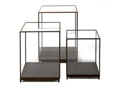 - Wood and glass display cabinet SHOW CASE LARGE - Pols Potten