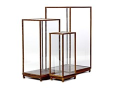 - Wood and glass display cabinet SHOW CASE - Pols Potten