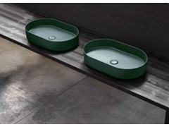 Lavabo da appoggio ovaleSHUI COMFORT | Lavabo ovale - CERAMICA CIELO