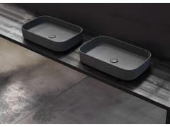 Lavabo da appoggio rettangolare in ceramicaSHUI COMFORT | Lavabo rettangolare - CERAMICA CIELO