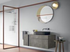 Mobile lavabo laccato singolo sospesoSIDÉRO COMP. 6 - BIREX