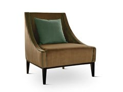 - Contemporary style upholstered fabric guest chair with removable cover SIKKA BASE | Armchair - Domingo Salotti