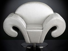 - Swivel fabric armchair with armrests SILHOUETTE | Swivel armchair - VGnewtrend