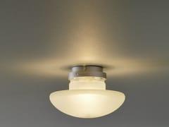 - Sandblasted glass ceiling lamp SILLABA   Ceiling lamp - FontanaArte