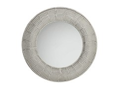 - Round wall-mounted framed mirror SILVER PEARLS Ø 100 - KARE-DESIGN