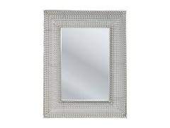 - Rectangular wall-mounted framed mirror SILVER PEARLS 90 x 70 - KARE-DESIGN