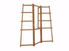 - Teak mirror / towel rack SIMPLICITY SC05-T - KARPENTER