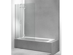 - Tempered glass bathtub wall panel SINTESI PV - VISMARAVETRO