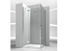 - Corner custom tempered glass shower cabin SINTESI SA+SA - VISMARAVETRO