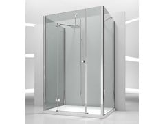 - Custom tempered glass shower cabin SINTESI SG+SM+SG - VISMARAVETRO