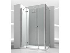 - Corner custom tempered glass shower cabin SINTESI SM+SG - VISMARAVETRO