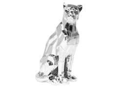 - Soprammobile in resina SITTING CAT RIVET CHROME - KARE-DESIGN