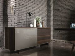 - Wood and glass sideboard SLIDE | Wood and glass sideboard - Dall'Agnese