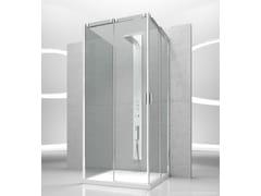 - Custom tempered glass shower cabin with sliding door SLIDE VA+VA+VG - VISMARAVETRO