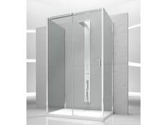 - Tempered glass shower cabin with sliding door SLIDE VG+VQ+VF - VISMARAVETRO