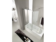 - Tempered glass bathtub wall panel SLIDE VR - VISMARAVETRO