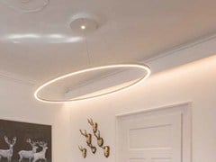 - LED aluminium pendant lamp SLIM ELLIPSE - Sattler